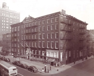 A 1954 photo of the Brevoort Hotel shortly before its demolition.